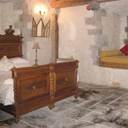 bedroom in turin castle