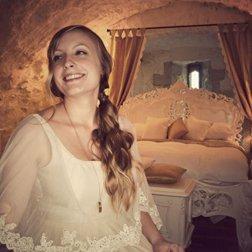 bride in bedroom